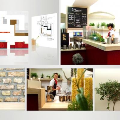 Tre Secondi Pasta Bar, Entwicklung CD / CI, Shop