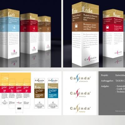 Taxor Cosmetics, Calinda Elements, Entwicklung der Produktserie