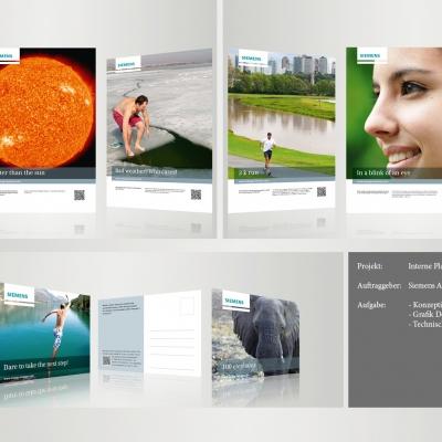 Siemens, Interne Plakatkampagne und Postkartenkampagne