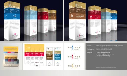 Design Agentur Berlin, packaging-produktentwicklung-taxor Calinda Elements, Packaging